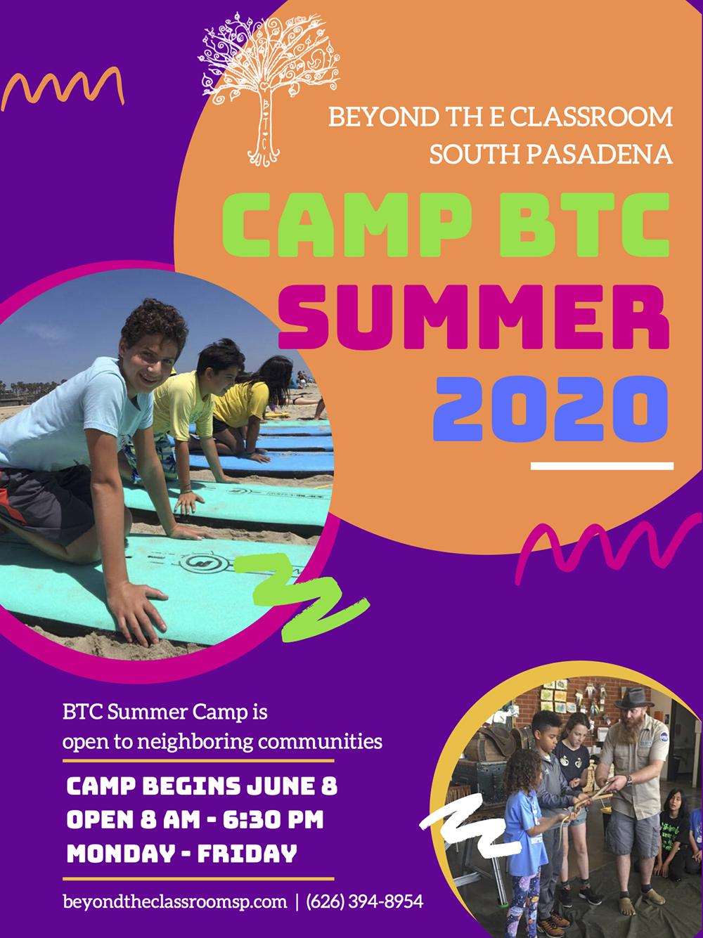 Beyond the Classroom Summer Camp 2019